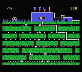 In game image of Oil's Well on the MSX.
