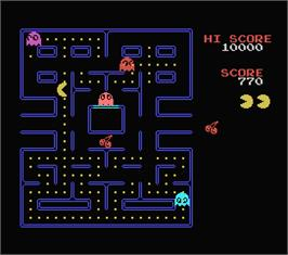In game image of Pac-Man on the MSX.
