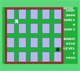 In game image of Panique on the MSX.