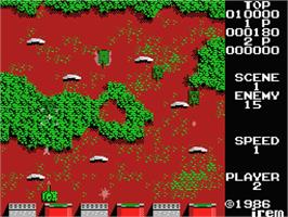 In game image of Panther on the MSX.