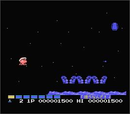 In game image of Parodius on the MSX.