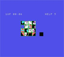 In game image of Picture Puzzle on the MSX.