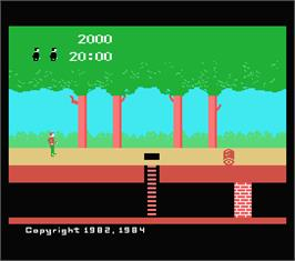 In game image of Pitfall on the MSX.