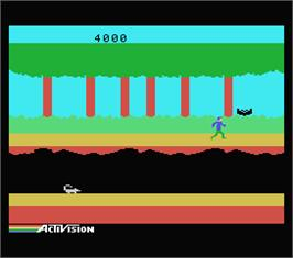 In game image of Pitfall II on the MSX.