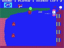 In game image of Pooyan on the MSX.