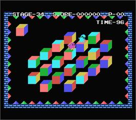 In game image of Q*bert on the MSX.
