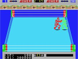 In game image of Robo Wres 2001 on the MSX.