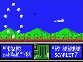 In game image of Scarlet 7: The Mightiest Women on the MSX.