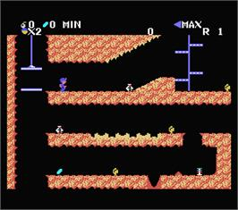 In game image of Spelunker on the MSX.