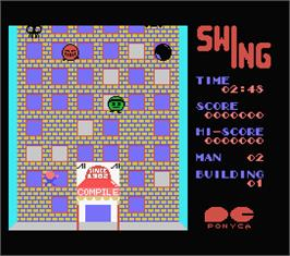 In game image of Swing on the MSX.