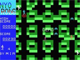 In game image of Terrorpods on the MSX.