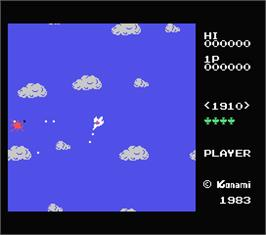 In game image of Time Pilot on the MSX.