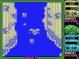 In game image of Toobin' on the MSX.