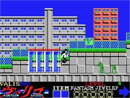 In game image of Valis: The Fantasm Soldier on the MSX.