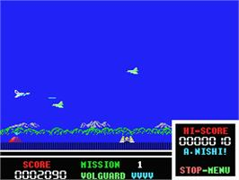 In game image of Volguard on the MSX.