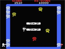 In game image of Warp & Warp on the MSX.
