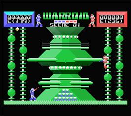 In game image of Warroid on the MSX.