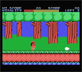 In game image of Wonder Boy on the MSX.