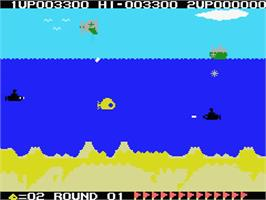 In game image of Yellow Submarine on the MSX.