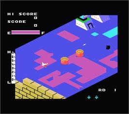 In game image of Zaxxon on the MSX.