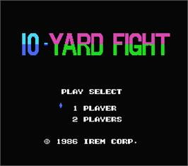Title screen of 10-Yard Fight on the MSX.