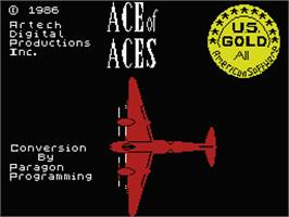 Title screen of Ace of Aces on the MSX.