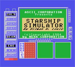 Title screen of African Trail Simulator on the MSX.