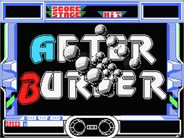 Title screen of After Burner on the MSX.