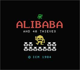 Title screen of Alibaba and 40 Thieves on the MSX.