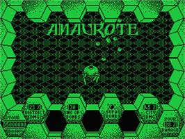Title screen of Amaurote on the MSX.