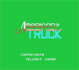Title screen of American Truck on the MSX.