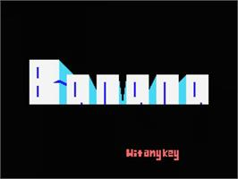 Title screen of Banana on the MSX.
