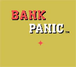 Title screen of Bank Panic on the MSX.