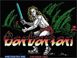 Title screen of Barbarian on the MSX.
