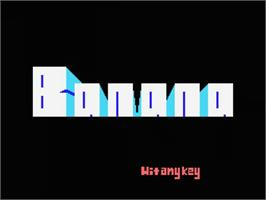 Title screen of Barunba on the MSX.