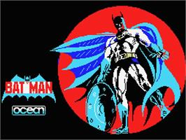 Title screen of Batman: The Movie on the MSX.