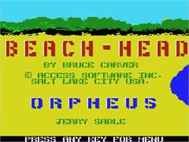 Title screen of Beach Head on the MSX.