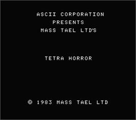 Title screen of Bestial Warrior on the MSX.