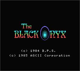 Title screen of Black Onyx on the MSX.