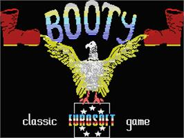 Title screen of Booty on the MSX.