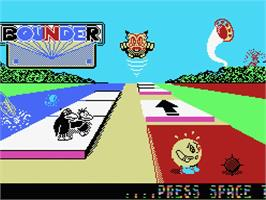 Title screen of Bounder on the MSX.