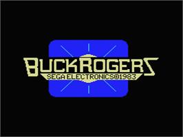 Title screen of Buck Rogers: Planet of Zoom on the MSX.