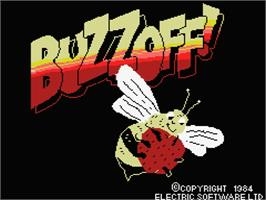 Title screen of Buzz Off on the MSX.