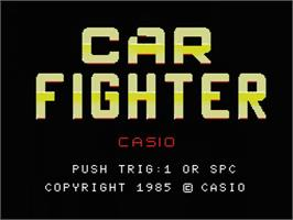 Title screen of Car Fighter on the MSX.
