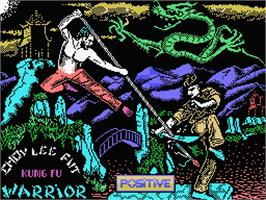 Title screen of Choy-Lee-Fut Kung-Fu Warrior on the MSX.