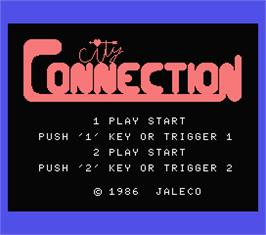 Title screen of City Connection on the MSX.