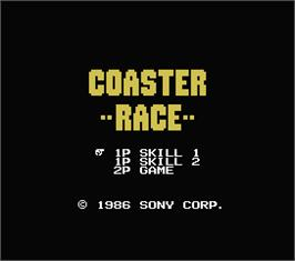 Title screen of Coaster Race on the MSX.