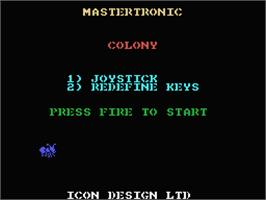 Title screen of Colony on the MSX.