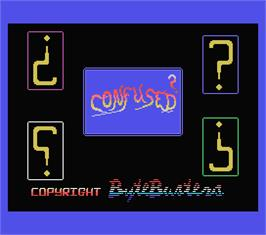 Title screen of Confused on the MSX.
