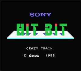 Title screen of Crazy Train on the MSX.
